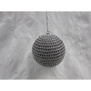 Boule de Noël Strass - Diam. 80 mm - Or