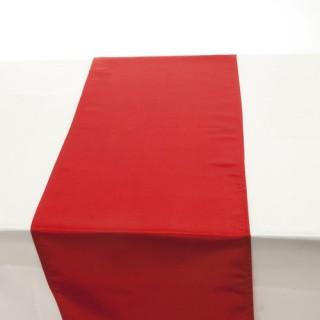 Chemin de table Satin - 140 x 40 cm - Rouge