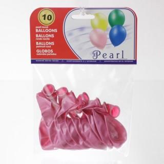 10 Ballons gonflables Nacrés - Rose