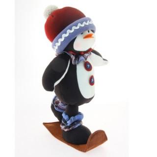 Peluche de Noël Pingouin - H. 41 cm - Blanc