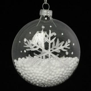 4 Boule de Noël Flocon - Verre