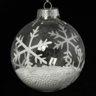 3 Boule de Noël Flocons - Verre