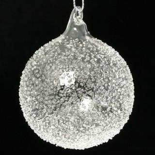 3 boules de Noël Givre - Verre