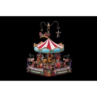 Décoration de Noël Carrousel - Lumineux, animé et musical