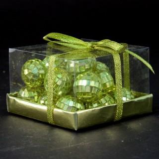 20 Boules de Noël Miroir - Or