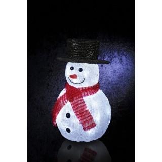 Décoration de Noël lumineuse d'extérieur - Bonhomme de neige