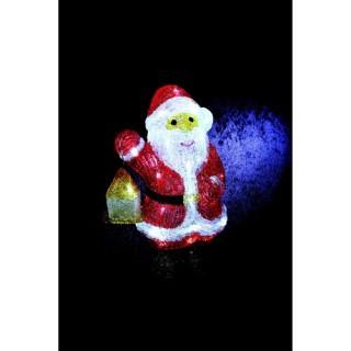 Décoration de Noël lumineuse d'extérieur - Père Noël