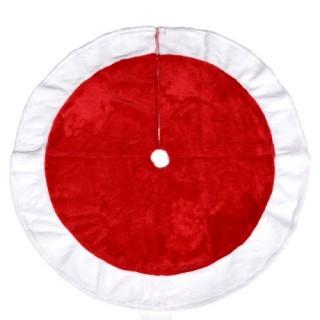 Tapis pour Sapin de Noël - Feutrine - Rouge et blanc
