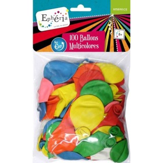100 Ballons gonflables - Multicolore
