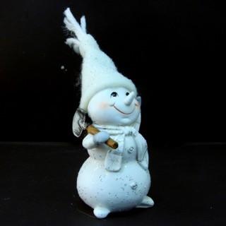 Statuette de Noël - Bonhomme de neige - Pelle
