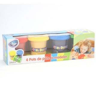 4 Pots de pâte à modeler - Multicolore
