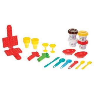 Kit Pâte à modeler Dessert - 15 Accessoires et 4 pots