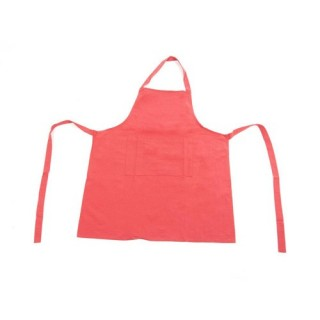 Tablier 1 Poche - Coton - Rouge