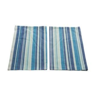 2 Torchons Rayures - Coton - Bleu