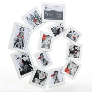 Pêle-mêle Spirale - 12 photos - Blanc