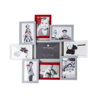Pêle-mêle Tricolore - 9 photos - Rouge, gris et blanc