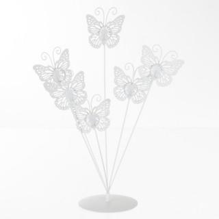 Porte-photos Papillons - 6 photos - Blanc