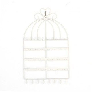 Porte-bijoux mural Cage - Blanc