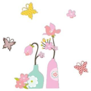 Sticker 3D Bucolique - Papillons
