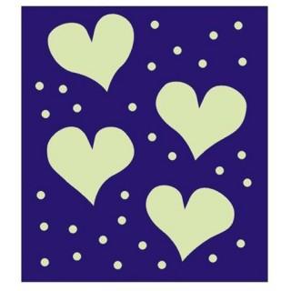 Sticker Phosphorescent - Coeurs