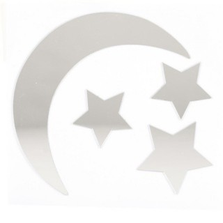 Stickers Miroir - 15 x 15 cm - Lune
