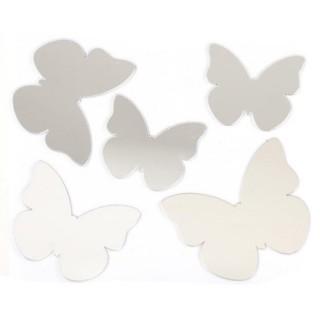 Stickers Miroir - 15 x 15 cm - Papillon