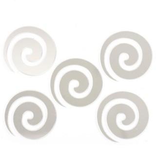 Stickers Miroir - 15 x 15 cm - Spirale