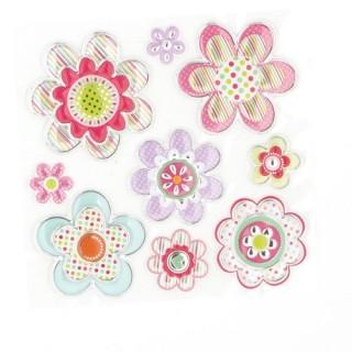 Sticker Relief - 30 x 30 cm - Fleurs