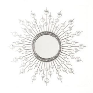 Sticker miroir Strass - 40 x 40 cm - Soleil