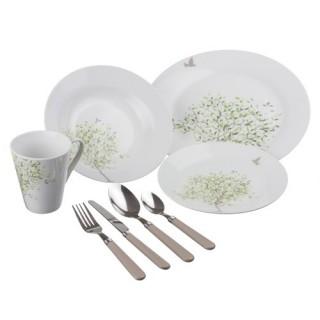 Service de table 32 pièces Arbre - Porcelaine