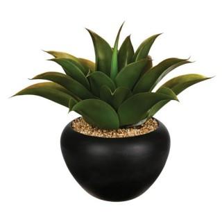 Aloe vera artificielle en pot - H. 37 cm