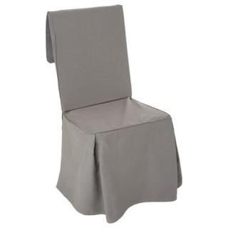 Housse de chaise - H. 85 cm - Gris