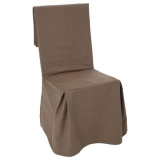 Housse de chaise - H. 85 cm - Taupe