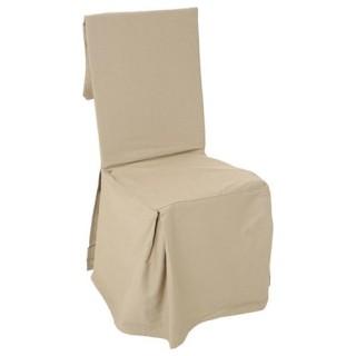Housse de chaise - H. 85 cm - Lin