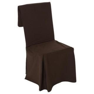 Housse de chaise - H. 85 cm - Chocolat
