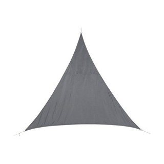 Voile d'ombrage triangulaire Curacao - 4 x 4 x 4 m - Gris