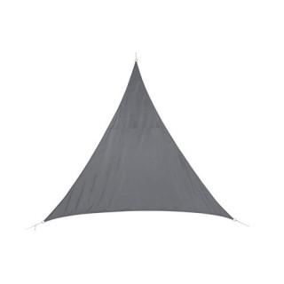 Voile d'ombrage triangulaire Curacao - 5 x 5 x 5 m - Bleu Gris