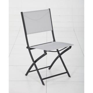 Chaise Modula - Galet et noir