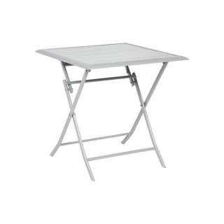 Table pliante Azua - 2 Places - Argent mat