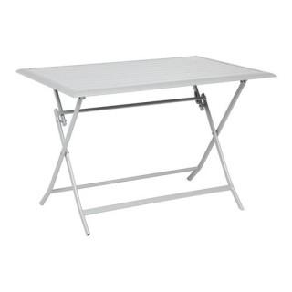 Table pliante Azua - 4 Places - Argent mat