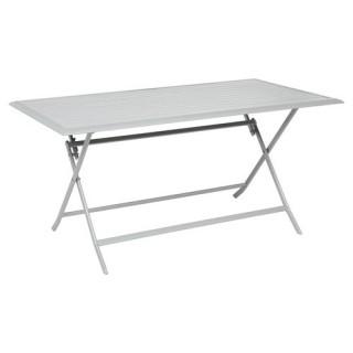 Table pliante Azua - 6 Places - Argent mat