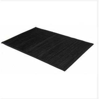 Tapis coloré en bambou - 60 x 90 cm - Noir