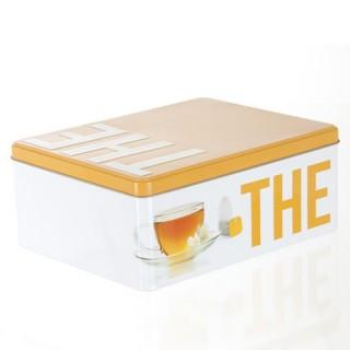 Boîte à thé et tisanes Relief - Métal