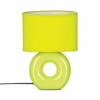 Lampe à pied rond - Céramique - Vert anis