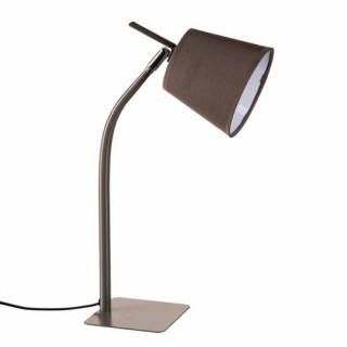Lampe métal couleur - H. 40 cm. - Gris