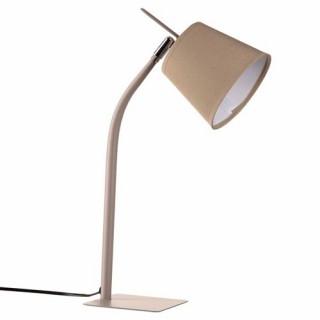 Lampe métal couleur - H. 40 cm. - Taupe
