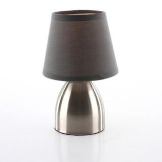 Lampe de chevet Touch - H. 19,5 cm. - Gris