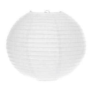 Lanterne boule - Diam. 45 cm. - Blanc