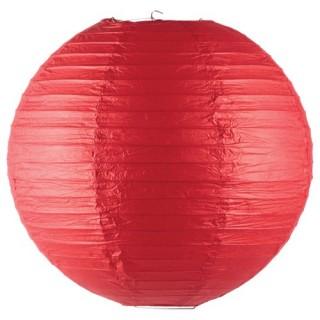 Lanterne boule coloris vif - Diam. 45 cm. - Rouge