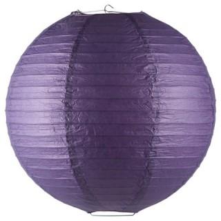 Lanterne boule coloris vif - Diam. 45 cm. - Violet